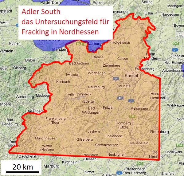Adler South das Untersuchungsbiet in Nordhessen